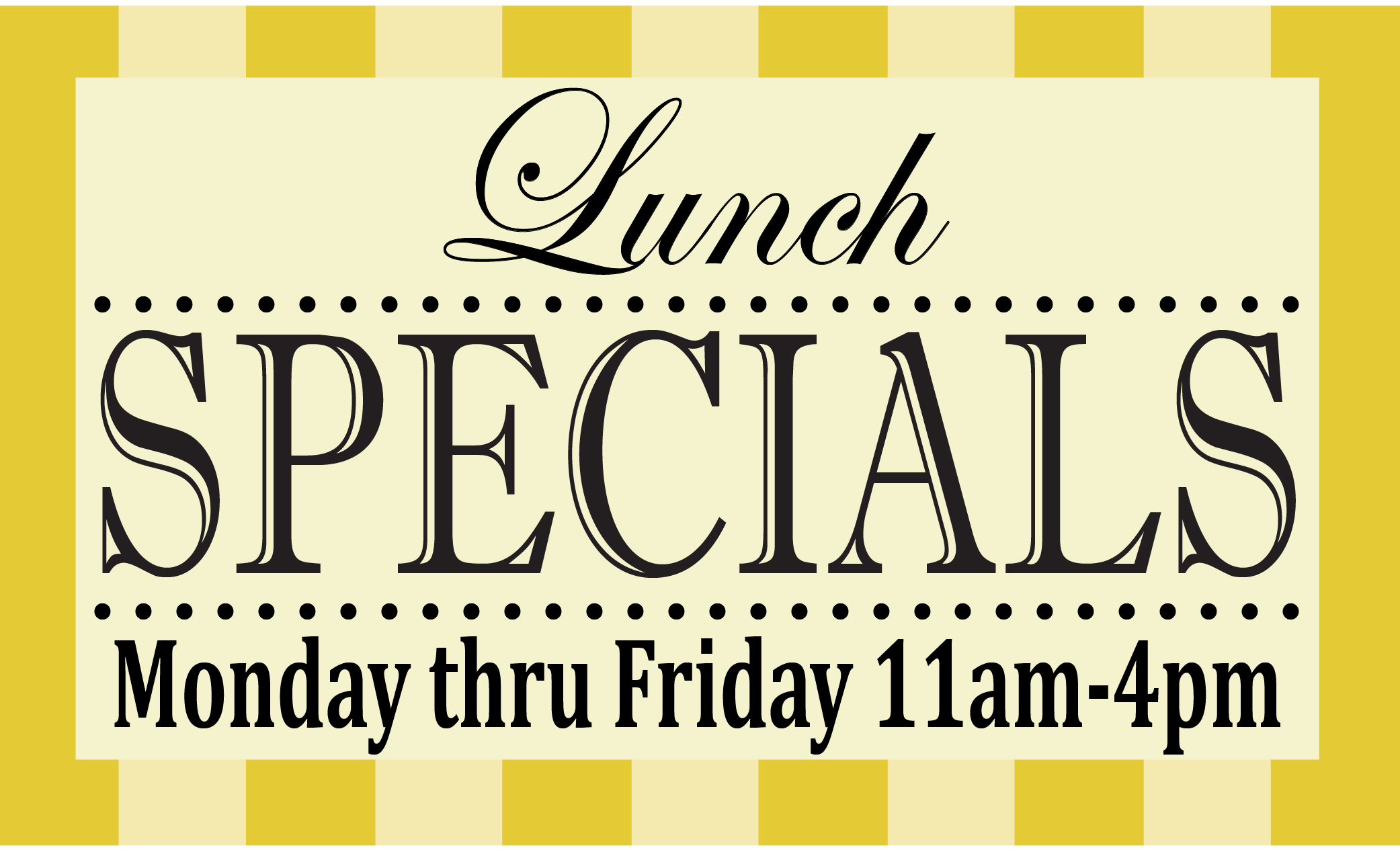 Lunch Specials in Fullerton